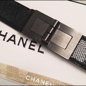 Chanel Reissue Phyton Black Belt