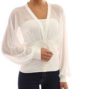PattyBoutik Tops - Brand new!  Pattyboutik chiffon long sleeve blouse