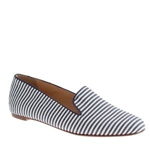 J.Crew Darby Striped Loafer in Navy & White