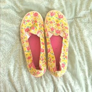 BC Footwear Shoes - yellow and pink floral print shoes