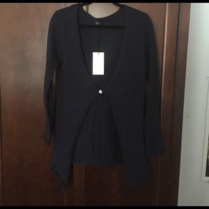 Sweaters - Navy blue one button cardigan