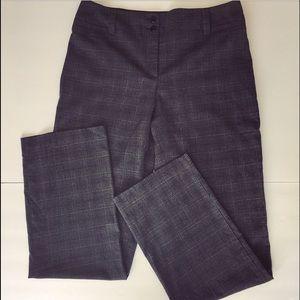 Pants - Gray & black plaid pants