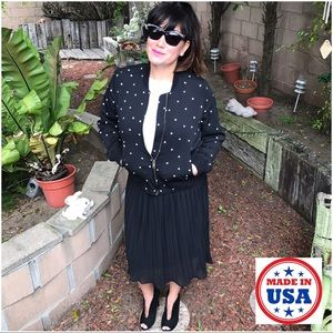 Mth Degree Dresses & Skirts - ‼️FINAL PRICE‼️Black Mini-Pleated Flowy Midi Skirt
