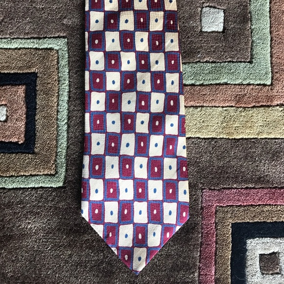 Vintage Other - 80's Tie Squares Funky