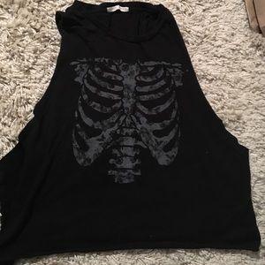 Brandy Melville Skeleton Tee