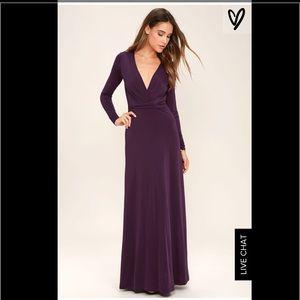 Lulu's Dresses & Skirts - Lulus purple long sleeve maxi dress