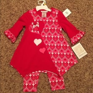Bonnie Jean Other - Red Hearts toddler outfit