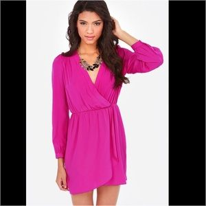 Lulu's Dresses & Skirts - Lulus magenta wrap dress