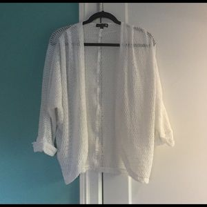 Cotton On White Slouch Open Cardigan