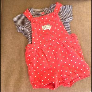 Carter's Other - Carter's cotton overall outfit