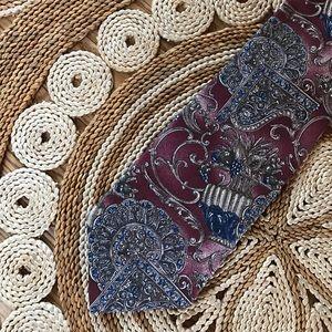 Vintage Accessories - Fruit Vase Vintage Collectible Silk Tie Cambridge