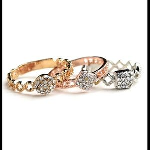 Jewelry - Multi Stone Layer Rings