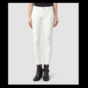 All Saints Mast VINTAGE WHITE Jeans Skinny Fit Low