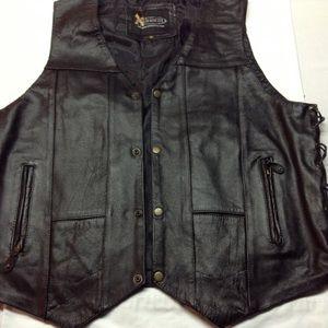 Other - 💥Mens Black  leather 10 pocket lace /side 💥