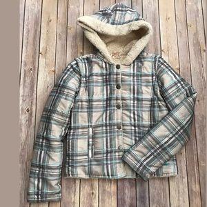 Girls youth O'neill jacket/vest Sz m tan blue