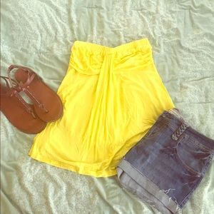 other Tops - Bright yellow tube top NWT