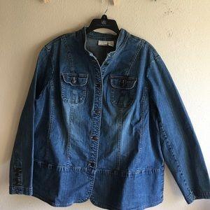 Covington Jackets & Blazers - Plus size Denim jacket size 22