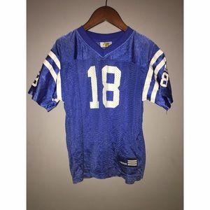 Adidas Colts Manning # 18 Blue Jersey Sz 7