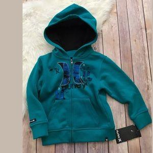 NWT boys Hurley zip up hoodie Sz 24 Months