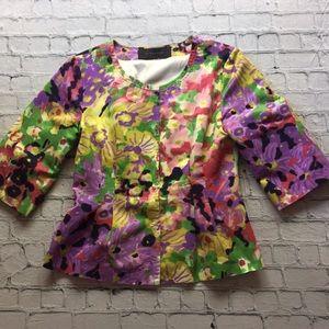 Elie Tahari Jackets & Blazers - Elie Tahari Floral Blazer