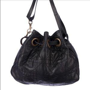 Christian Dior Handbags - Christian Dior Quilted Lambskin Cannage Bucket Bag
