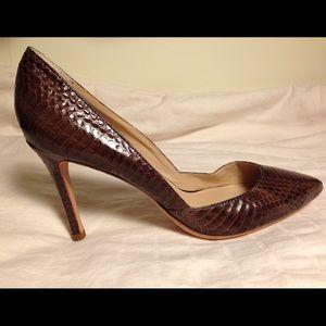 Loeffler Randall Snakeskin Heels