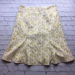 GAP Floral Midi Skirt with a Bottom Flare