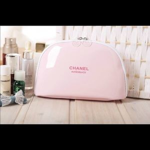 CHANEL Other - Chanel pink patent leather cosmetic bag-last one