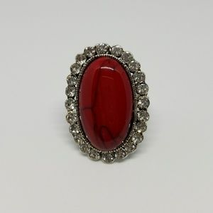 Jewelry - Red Gem Multi Stone Ring