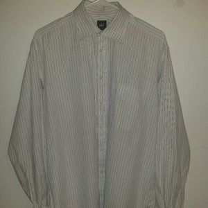 Ike Behar Other - White striped dress long sleeve dress shirt