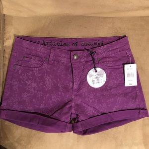 Articles of Society Pants - Articles of Society Purple Shorts NWT