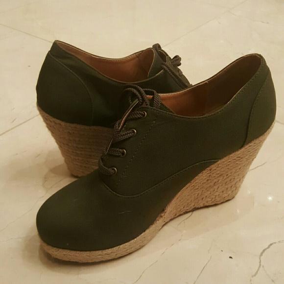 Torrid Shoes | Wide Width Plus Size Green Wedges11w | Poshmark