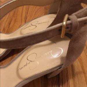 122ab74dbd Jessica Simpson Shoes - Jessica Simpson Monrae Sandal Taupe Faux Suede 9.5