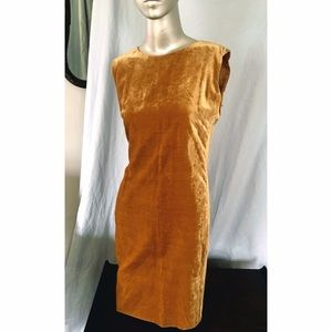 Byblos Dresses & Skirts - BYBLOS 1985 Gold Velvet Shift Dress-Italy. AMAZING
