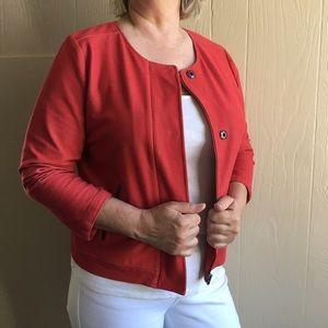 J. Jill Jackets & Blazers - J. Jill Cotton Vibrant Distressed Jacket
