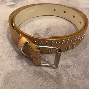 Accessories - Tan and Rhinestone Belt