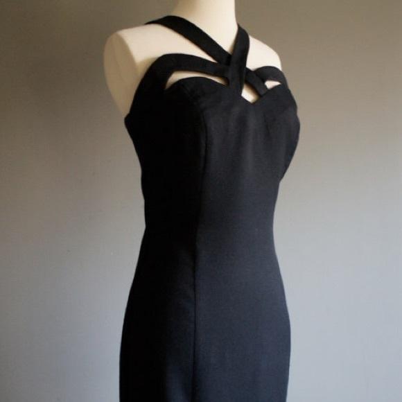 Vintage Dresses & Skirts - Vintage '90s Indecent Exposure Cutout Black Dress