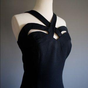 Vintage Dresses - Vintage '90s Indecent Exposure Cutout Black Dress