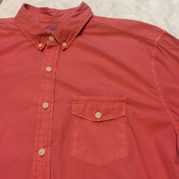 Lucky brand lucky brand surf wash casual button down for Lucky brand button down shirts