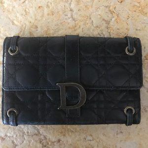 Christian Dior Handbags - Christian Dior Black Quilted Lambskin Wallet