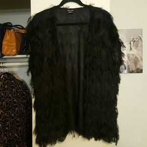 City Chic Jackets & Blazers - City Chic Shaggy Faux Fur Vest