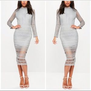 "Self Portrait Dresses & Skirts - Missguided ""Self Portrait Style"" Gray Lace Dress 2"