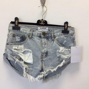 One Teaspoon Bandits Shorts size 25 new