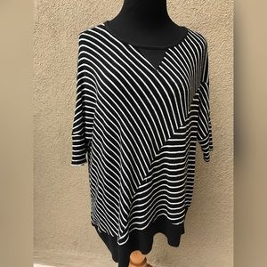 Anthropologie by Moth Striped Poncho Knit Top