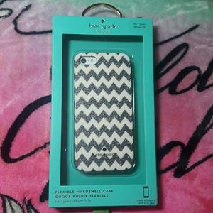 Kate Spade iPhone 5/5s/SE chevron glitter case