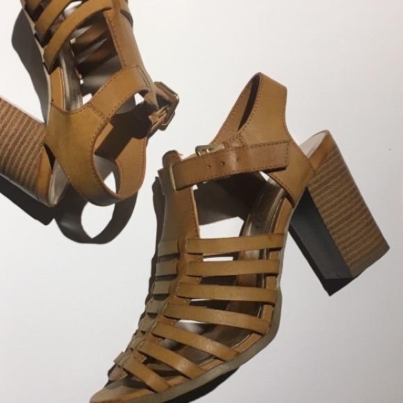 Madden Girl Caged Chunky Heel Sandals