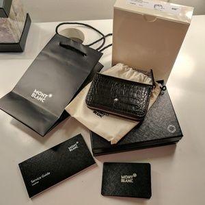 Montblanc Accessories - Montblanc black leather wallet