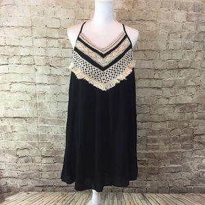 Entro Dresses & Skirts - Entro Black Fringe Dress