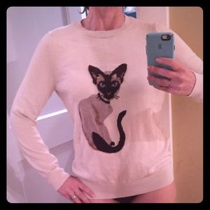 Joe fresh cat sweater