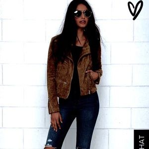 Sexy Suede jacket brown soft Style Co